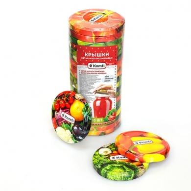 """Крышки винтовые d=82мм, в упаковке по 20 шт, """" овощи микс"""",  Komfi"""