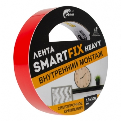 Сверхсильная монтажная лента W-con SmartFix HEAVY, прозрачная