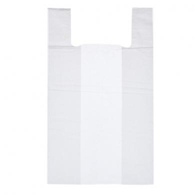 Пакет майка ПНД  (Белая)  30см+14см*60см