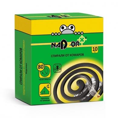 Спирали от комаров  ТМ Nadzor (черные)