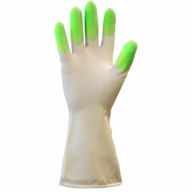 Перчатки хозяйственные виниловые (пвх)  Komfi . микс из трех цветов в одной коробке