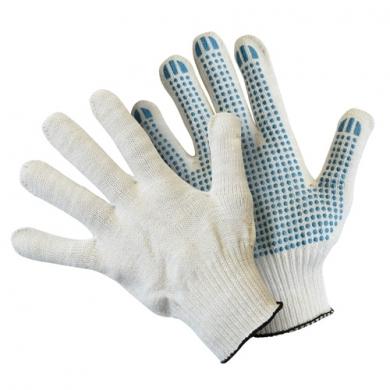 Перчатки вязаные с пвх 42 г.