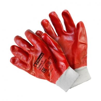 """Перчатки """"Повышенная стойкость к загрязнениям"""" полиэстеровые с хлопком, ПВХ покрытие, Fiberon, 10(XL)"""