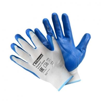 """Перчатки """"Антискользящие"""" полиэстеровые, нитриловое покрытие, Fiberon, 9(L)"""
