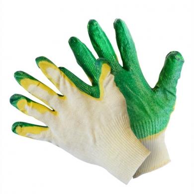 Перчатки вязаные с двойным латексным обливом 42г.