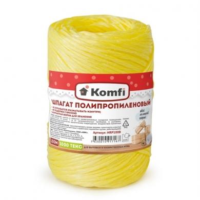 Шпагат полипропиленовый желтый, 100м, 1000 текс, Komfi
