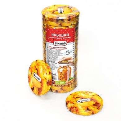 """Крышки винтовые d=82мм, в упаковке по 20 шт, """" грибочки """",  Komfi"""