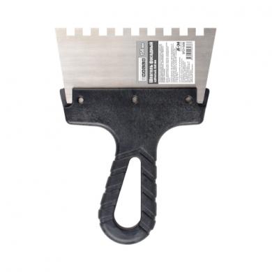 Шпатель зубчатый 150 мм, 8х8 мм, 4Walls
