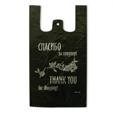 Пакет майка ПНД  «Спасибо за покупку» 25см+12см*45см